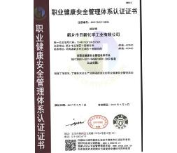 职业健康安全管理系统认证证书